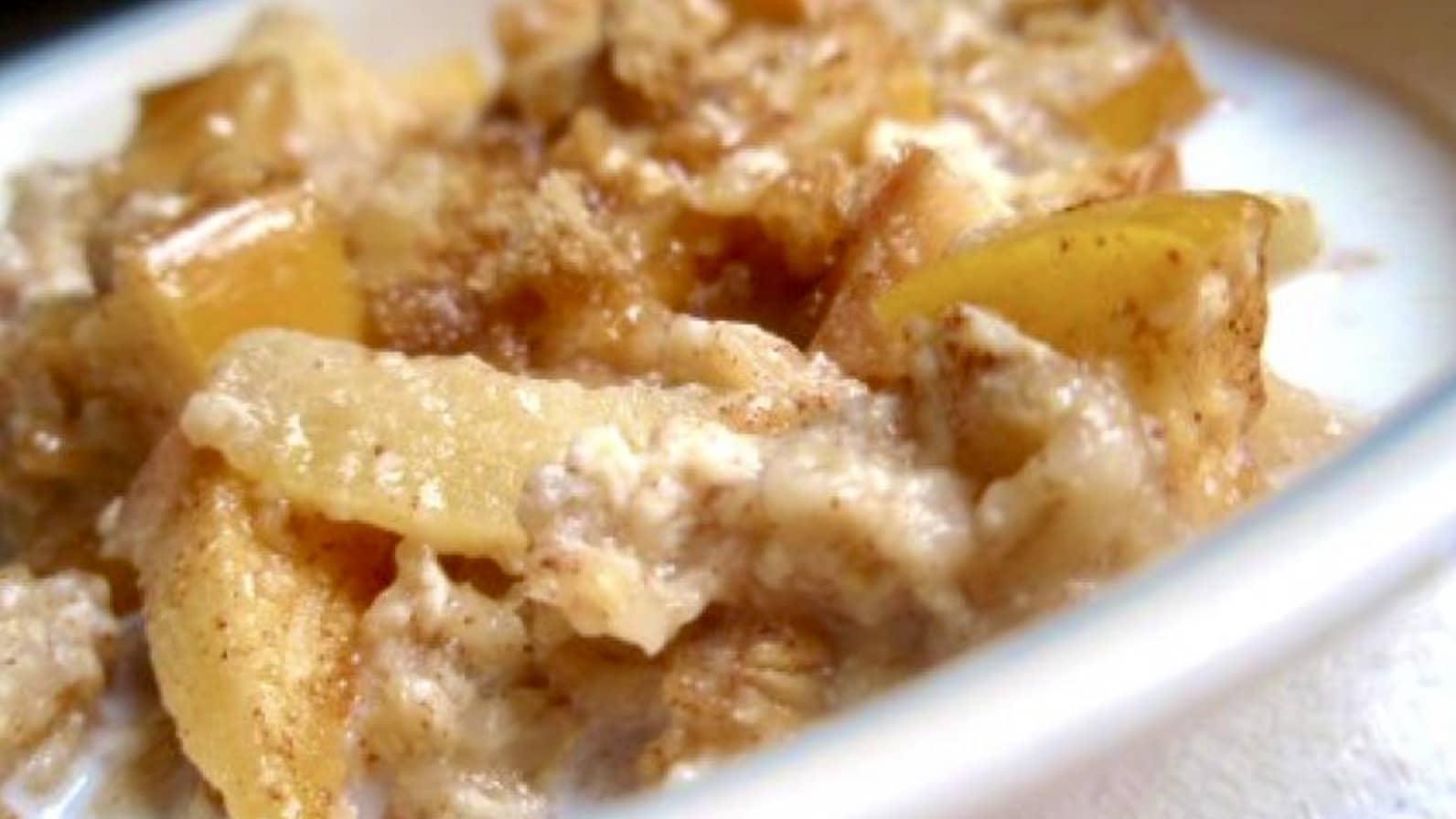 Gachas de Avena con Manzana y Canela - Vegano