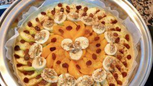 Pizza de frutas saludable - Vegano
