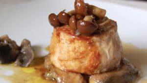 Solomillo de Ibérico con salsa de setas