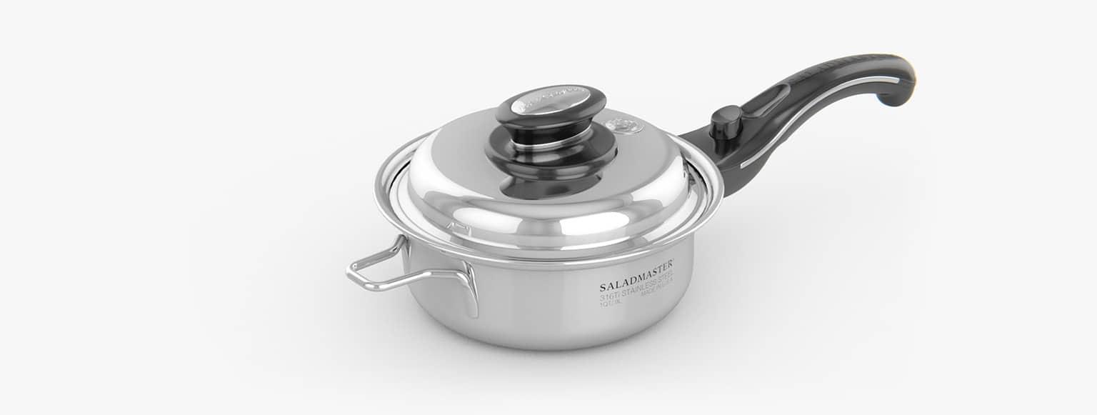 Saladmaster España - Cazuela 1,5 Litros saladmaster titanio - La mejor elección para cocinar de manera saludable