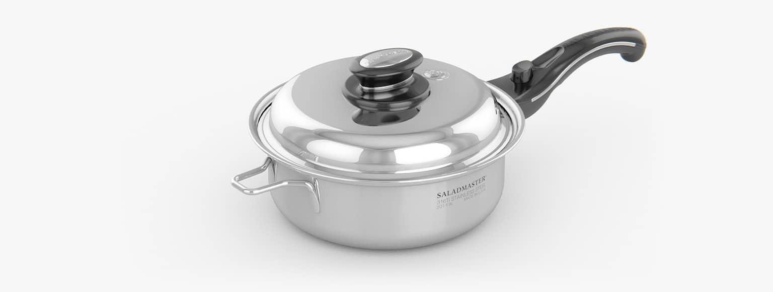 Saladmaster España - Cazuela 2 Litros saladmaster titanio - La mejor elección para cocinar de manera saludable