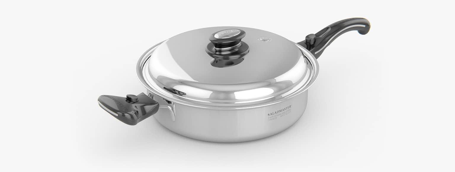 Saladmaster España - Cazuela 28 cm saladmaster titanio - La mejor elección para cocinar de manera saludable