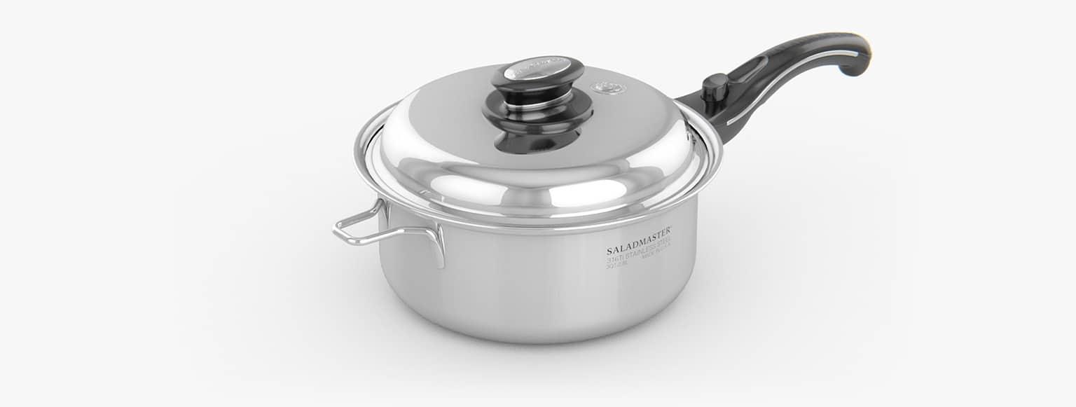 Saladmaster España - Cazuela 1 Litro saladmaster titanio - La mejor elección para cocinar de manera saludable