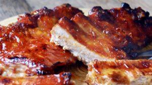 Costillas Asadas con salsa Barbacoa