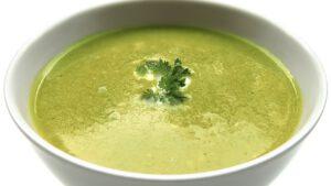Crema de Brócoli con Yogur y Menta - Vegano